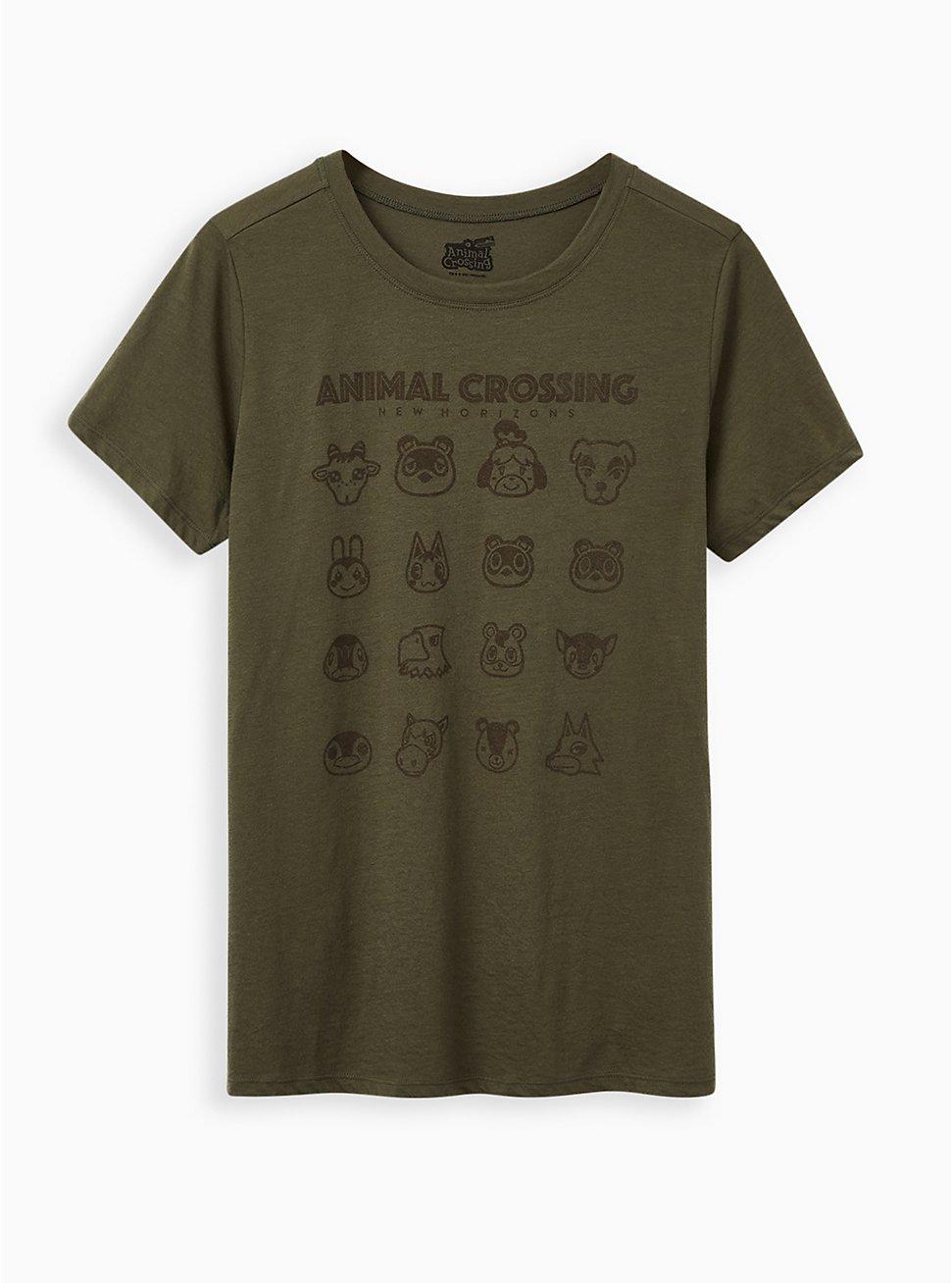 Plus Size Slim Fit Crew Tee – Animal Crossing Olive, DEEP DEPTHS, hi-res