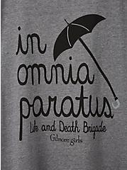 Classic Fit Crew Tee - Gilmore Girls In Omnia Paratus Grey, MEDIUM HEATHER GREY, alternate