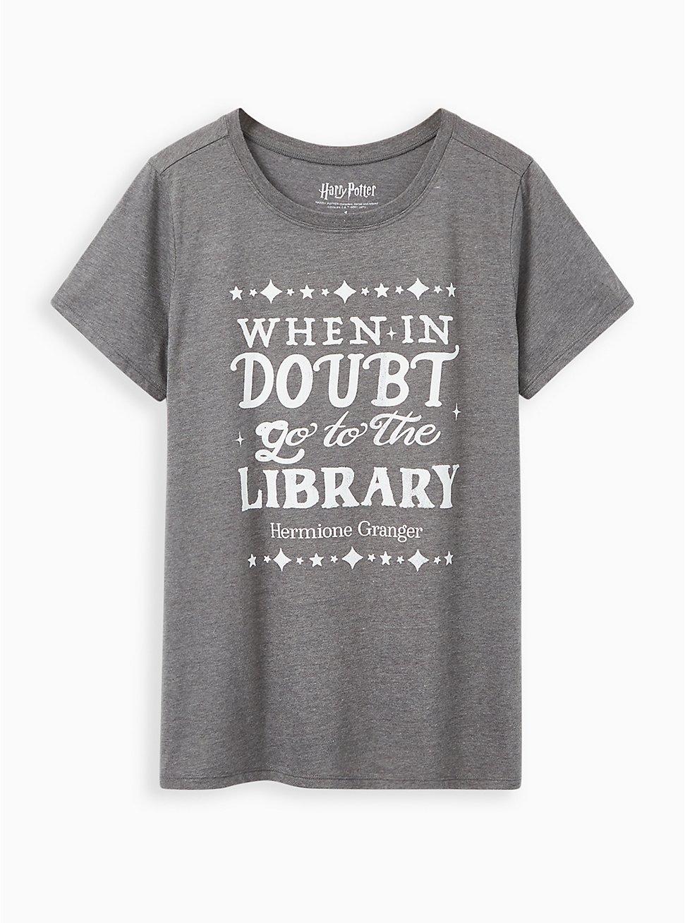 Slim Fit Crew Tee - Go To The Library Grey, MEDIUM HEATHER GREY, hi-res