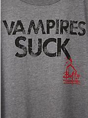 Classic Fit Crew Tee - Buffy the Vampire Slayer Grey, MEDIUM HEATHER GREY, alternate