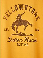 Plus Size Slim Fit Crew Tee – Dutton Ranch Yellow, MINERAL YELLOW, alternate