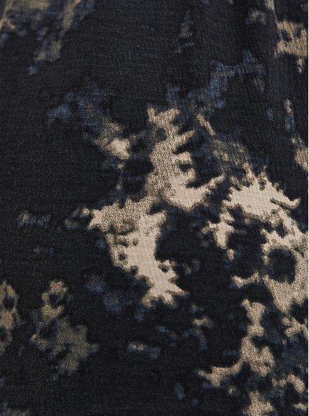 Black Bleach Textured Knit Surplice Romper, BLEACH OUT, alternate