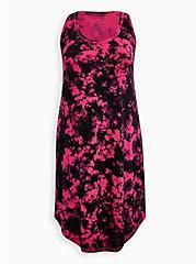 Pink Tie-Dye Super Soft Midi Sleep Gown, MULTI, hi-res