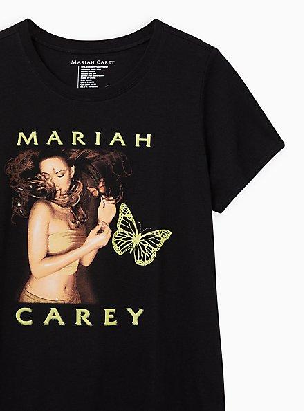 Plus Size Classic Fit Crew Tee - Mariah Carey Black, DEEP BLACK, alternate