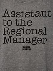 Classic Fit Crew Tee – The Office Assistant To Regional Manager Grey, MEDIUM HEATHER GREY, alternate