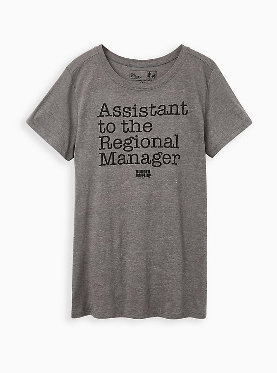 Classic Fit Crew Tee – The Office Assistant To Regional Manager Grey, , hi-res