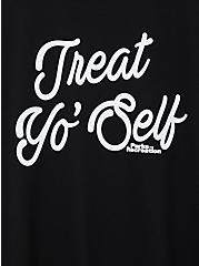 Classic Fit Crew Tee - Parks & Recreation Treat Yo' Self Black, DEEP BLACK, alternate