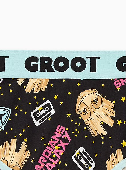 Hipster Panty - Guardians Of The Galaxy Groot Cotton , MULTI, alternate