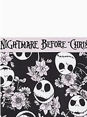 Boyshort Panty - The Nightmare Before Christmas Purple Floral Jack Cotton, MULTI, alternate