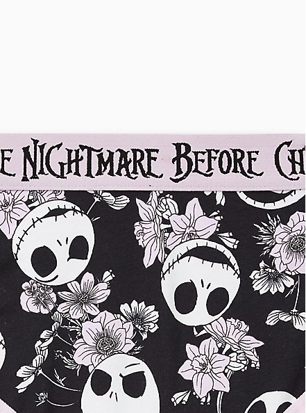 Cheeky Panty - The Nightmare Before Christmas Purple Floral Cotton, MULTI, alternate