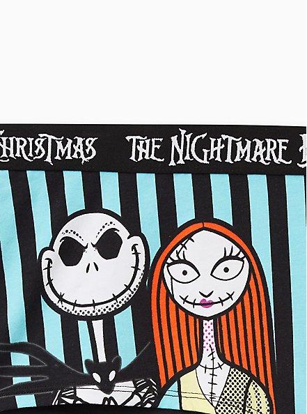 Plus Size Boyshort Panty - The Nightmare Before Christmas Cotton, MULTI, alternate