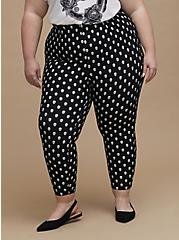 Retro Chic Audrey Pull-On Pant - Ponte Skulls Black, OTHER PRINTS, alternate