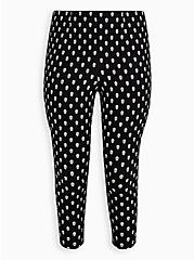 Retro Chic Audrey Pull-On Pant - Ponte Skulls Black, OTHER PRINTS, hi-res