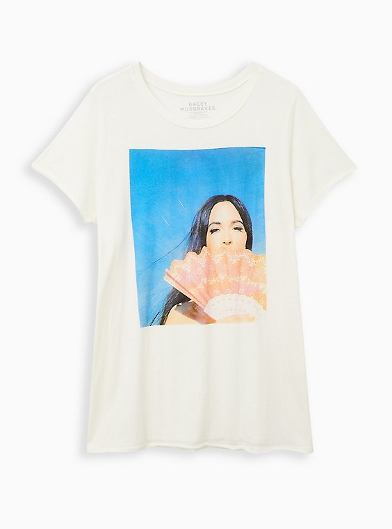 Plus Size Classic Fit Crew Tee - Kacey Musgraves White, BRIGHT WHITE, hi-res