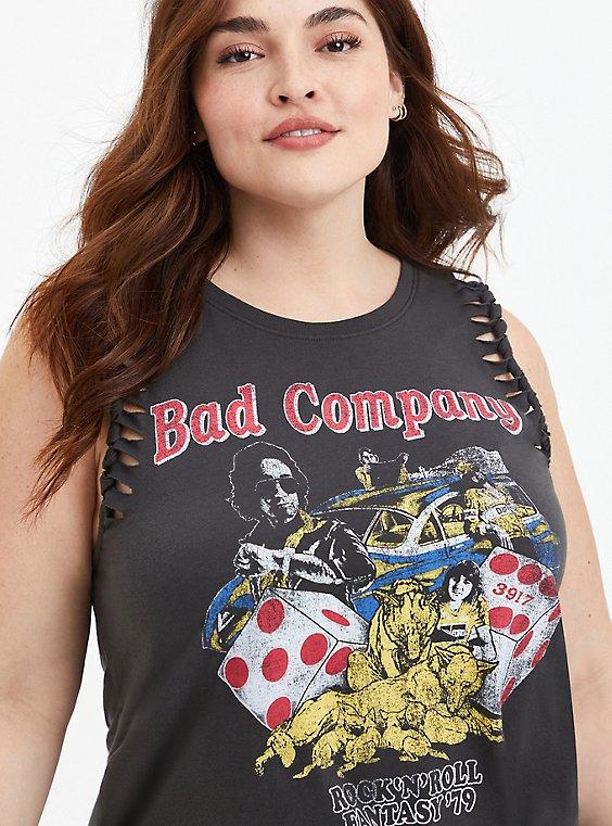 Classic Fit Slash Tank - Bad Company Black, DEEP BLACK, hi-res