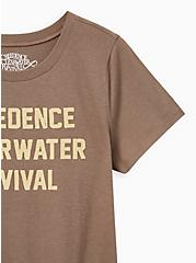 Classic Fit Crew Tee - Creedence Clearwater Brown, TAUPE, alternate