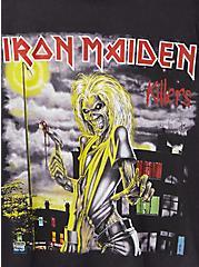 Classic Fit Crew Tee – Iron Maiden Mineral Wash Black, DEEP BLACK, alternate