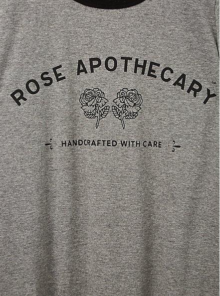 Classic Fit Ringer Tee - Schitt's Creek Rose Apothecary Grey, MEDIUM HEATHER GREY, alternate