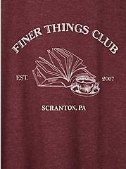 Classic Fit Ringer Tee - The Office Finer Things Burgundy, BURGUNDY, alternate