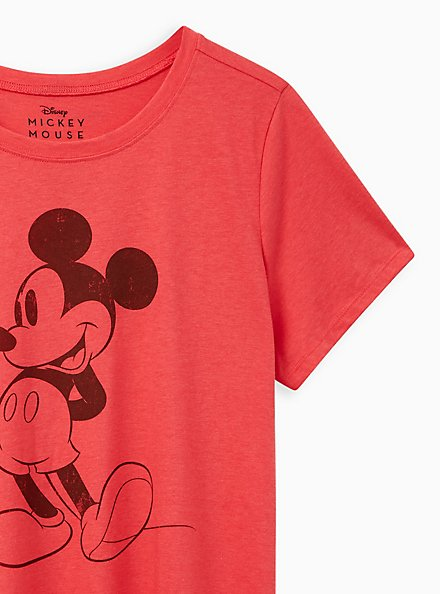 Slim Fit Crew Tee - Red Mickey Mouse, TEABERRY, alternate
