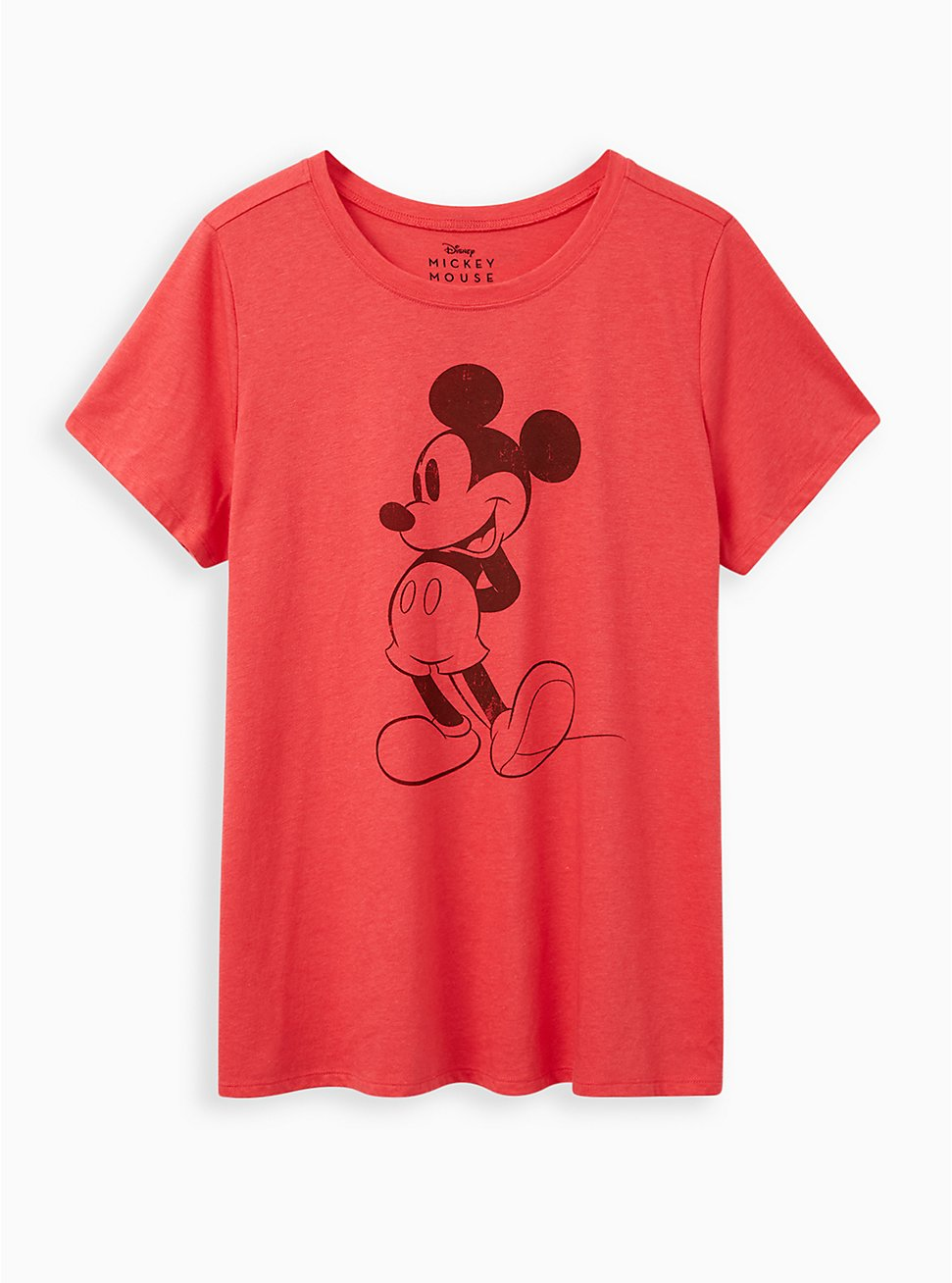 Plus Size Slim Fit Crew Tee - Red Mickey Mouse, TEABERRY, hi-res
