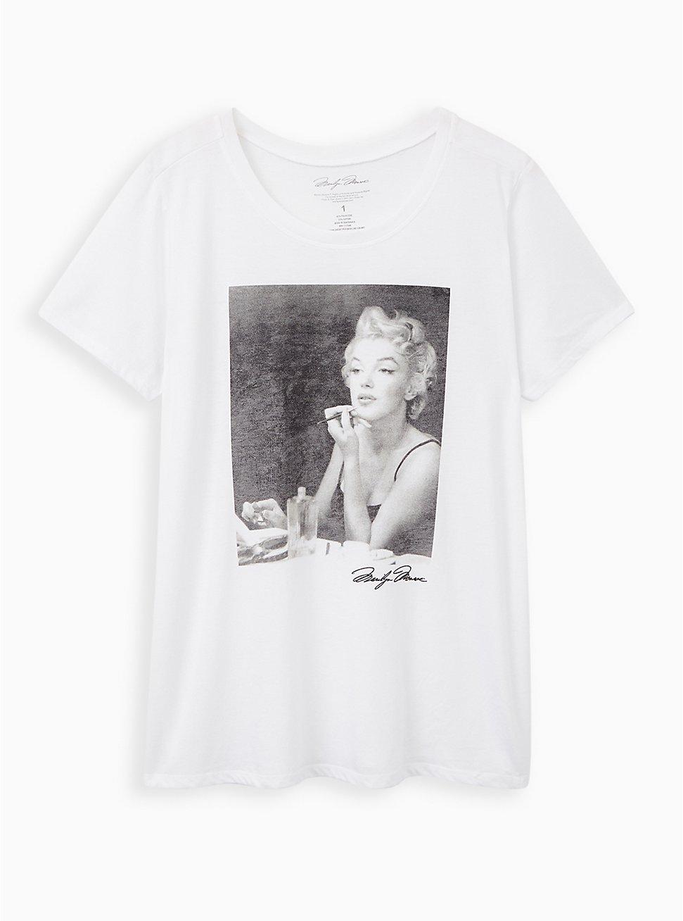 Slim Fit Crew Tee - Marilyn Monroe Makeup White, BRIGHT WHITE, hi-res
