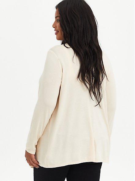 Drape Cardigan Sweater - Super Soft Sand, SAND, alternate