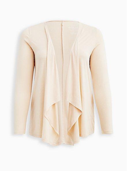 Drape Cardigan Sweater - Super Soft Sand, SAND, hi-res