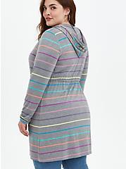 Hoodie Anorak - Super Soft Heather Grey Stripe, STRIPE - MULTICOLOR, alternate