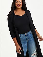 Super Soft Black Duster, DEEP BLACK, alternate