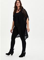 Kimono Duster - Pointelle Black, DEEP BLACK, alternate