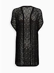 Kimono Duster - Pointelle Black, DEEP BLACK, hi-res