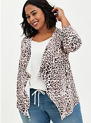 Super Soft Leopard Drape Cardigan Sweater, IKAT - COLORED, alternate