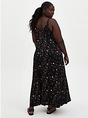 Trapeze Maxi Dress - Soft-Stretch Challis Star Black, STARS - BLACK, alternate