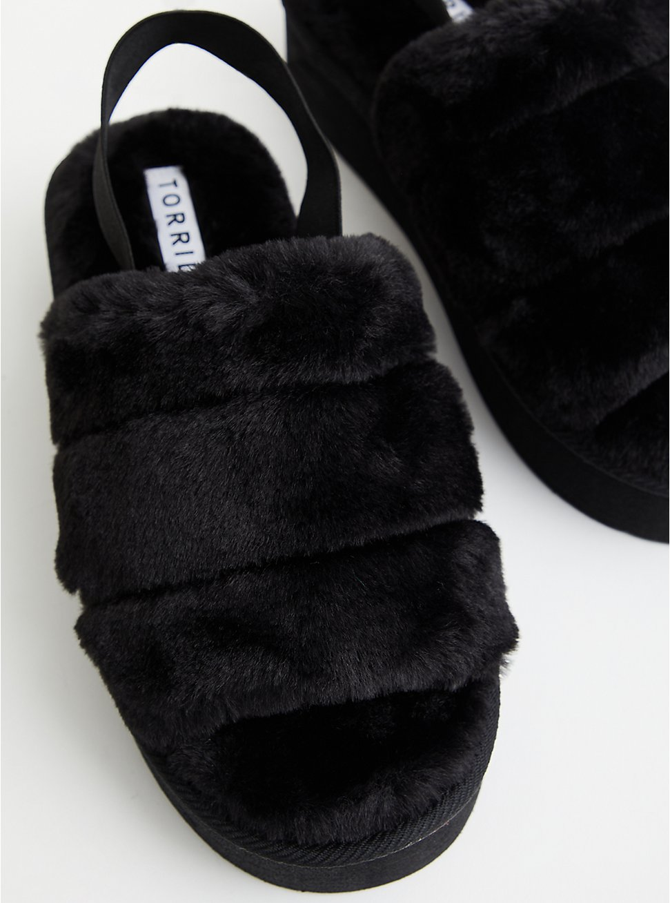 Platform Slipper - EVA & Faux Fur Black, BLACK, hi-res
