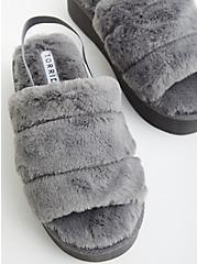 Platform Slipper - EVA & Faux Fur Grey, GREY, alternate