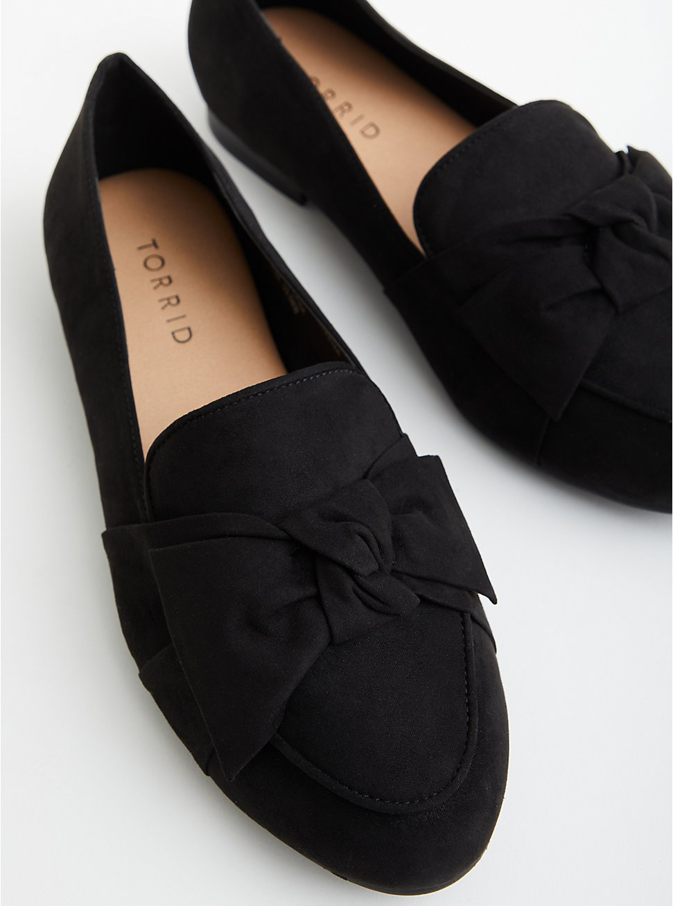 Plus Size Black Faux Suede Loafer, BLACK, hi-res