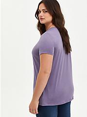 Embroidered Tee - Purple, PURPLE, alternate