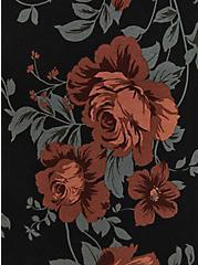 Super Soft Black Floral Flutter Sleeve Top, OTHER PRINTS, alternate