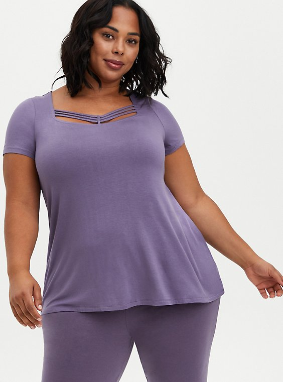Strappy Swing Tee - Super Soft Purple, PURPLE, hi-res