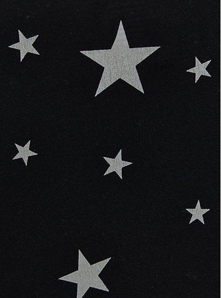 Cinch Front Foxy Cami - Stars Black , OTHER PRINTS, alternate