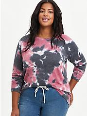Raglan Sweatshirt - Tie-Dye Black, OTHER PRINTS, hi-res