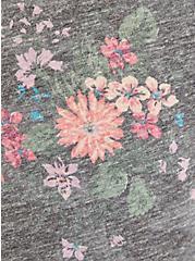 Vintage Tee - Triblend Jersey Black Floral, OTHER PRINTS, alternate