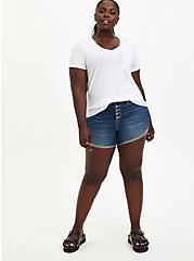 Plus Size Pocket Tee - Heritage Slub White, BRIGHT WHITE, alternate