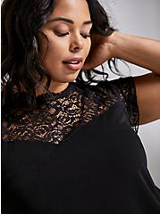 High-Neck Top - Lace Black, DEEP BLACK, alternate
