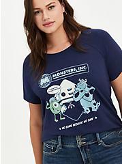 Disney Pixar Monster's Inc. We Scare Raglan Top, PEACOAT, hi-res