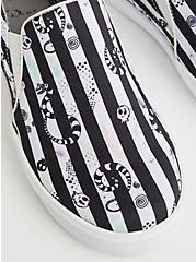 Beetlejuice Slip-On Sneaker - Canvas Striped (WW), BLACK, alternate