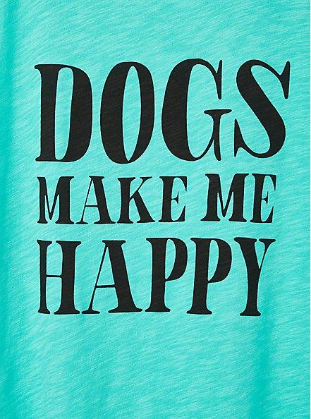Classic Fit Tank - Dogs Make Me Happy Aqua Green, AQUA GREEN, alternate