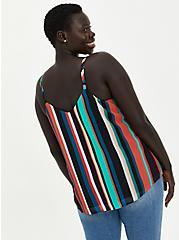 Sophie - Multi Stripe Chiffon Swing Cami, STRIPE-BLACK, alternate