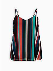 Sophie - Multi Stripe Chiffon Swing Cami, STRIPE-BLACK, hi-res